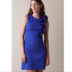 Eliza J Ruffle Shoulder A-line Dress